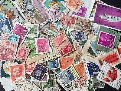 100+ World stamps- bulk lots- good variety- vintage stamps-great value
