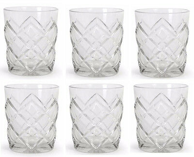 Set of 6X  Whiskey Glass Tumblers Drinking Glasses 36cl 360ML