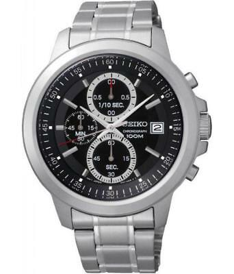 Seiko SKS445P1 100m Stainless Steel Chronograph Stopwatch Date Watch RRP £199