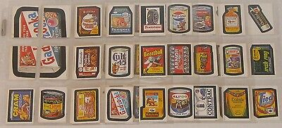 Topps Wacky Packages Album Stickers Complete Set 120/120 1982 NR NM