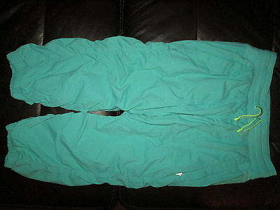 Gilrs Blue/green Croped Lined Studio Pants Size 14