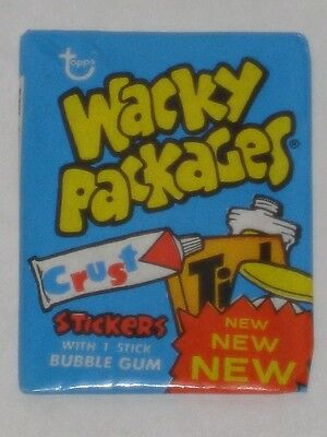 Topps Wacky Packages Series 4 5 or 6? Unopened Wax Pack Blue Wrapper Sealed