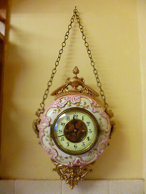 Very unusual French mantle clock.