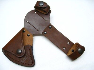 Columbia River CRKT Brown Leather Snap Sheath For Woods Chogan T-Hawk Axe D2730