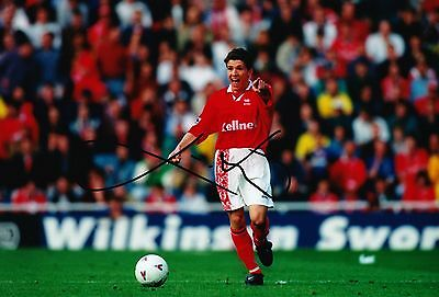Juninho Signed 12X8 Photo Middlesbrough F.C. & Brazil Autograph AFTAL COA (9048)