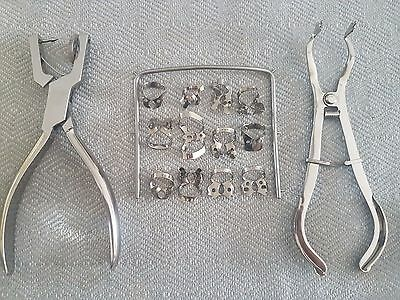 Dental Rubber Dam Clamps Kit Set Of 15 Pieces Dental Surgical Instruments