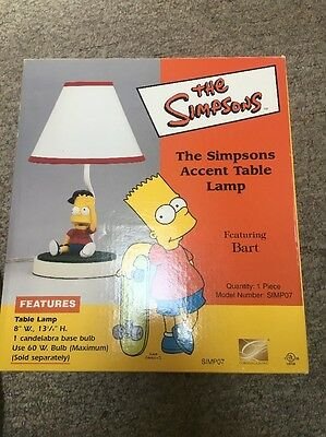 The Simpsons Accent Table Lamp Bart Simpson 2007. New