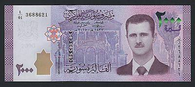JUST ISSUED NEW 2000 SYRIAN POUNDS Livres Syriennes Syria Syrie