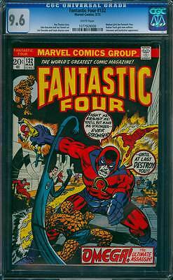 Fantastic Four # 132  Omega the Ultimate Assassin !  CGC 9.6 scarce book !