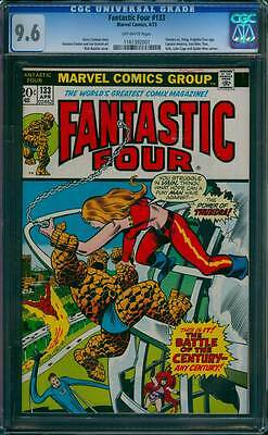 Fantastic Four # 133  The Battle of any Century !  CGC 9.6 scarce book !