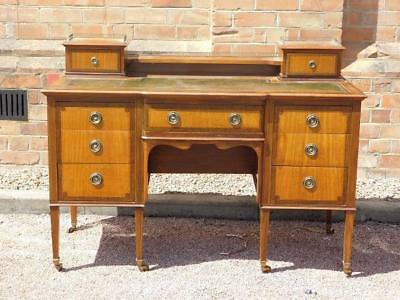 An Impressive And Elegant Antique Writing Desk Of Good Size