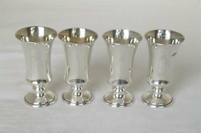 A Lovely Set Of Four Solid Sterling Silver Goblets Cups Birmingham 1972.