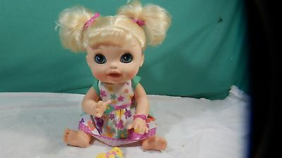 2012 Baby Alive Real Surprises Doll Blonde English & Spanish,  Dress Interactive