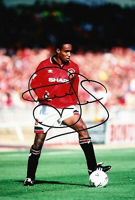 Paul Ince Signed 12X8 Photo MANCHESTER UNITED AFTAL COA (9066)