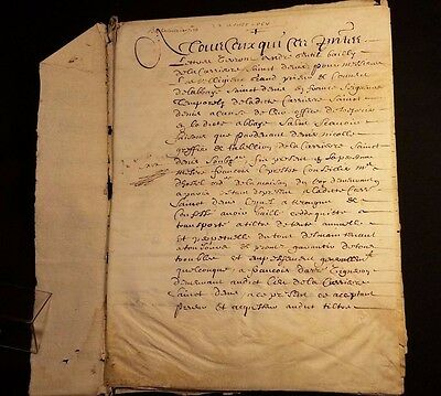 1656 - CONTRACT - RARE DOCUMENT on PARCHMENT - 8 PAGES