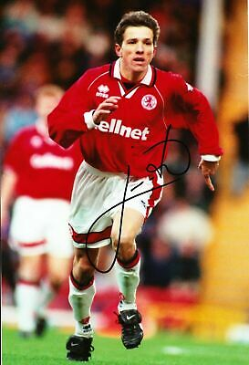 Juninho Signed 12X8 Photo Middlesbrough F.C. & Brazil Autograph AFTAL COA (9073)
