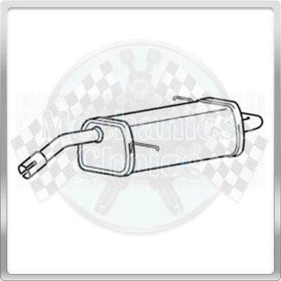 Direct Fit Rear Exhaust Silencer Back Box for Ford Fiesta 1.6 01//02-10//05