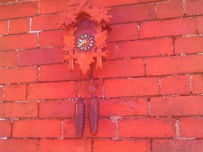 Vintage 8 Day Cuckoo Clock in GWO. Regula by E Schmekenbecher. On GWO