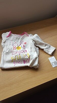 Mothercare baby sleepsuit 3-6 months new