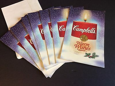Lot of 7 Campbell's Soup Company CHRISTMAS CARDS with Envelopes