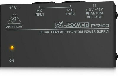 Behringer PS400 Micropower Phantom Power Supply BRAND NEW