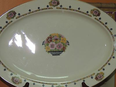 """Antique Hutschenreuther Selb Bavaria 15+"""" Platter Crown Lion Ivory Charger Plate"""