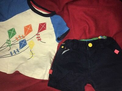 Mothercare Little Bird by Jools Oliver Boys Shorts and T Shirt 12-18 Months