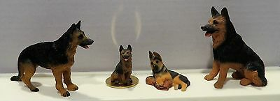 4 German Shepherd Dog Figurine Lot Tiny Ones Concepts MidWest of Canon Falls