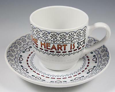 "Mary Engelbreit Cup & Saucer ""Home Is Where The Heart Is"""