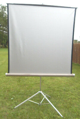 "Vintage Da-Lite Vidio  Silver Projection Screen 60"" X 60 """