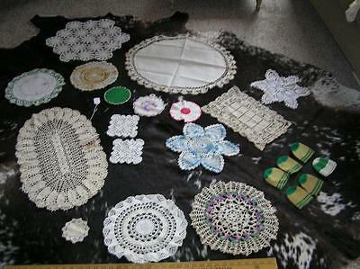 Vintage Elegant Lot of 22 Heirloom Crochet Doilies Runners Table Scarves Warmers