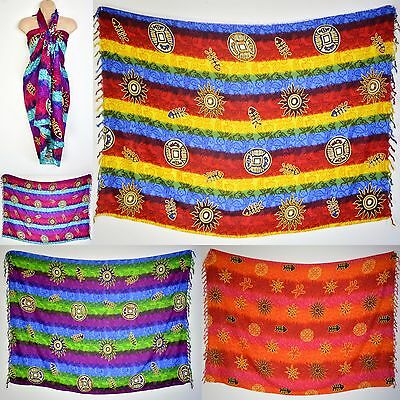 Colourful African Sarong, Pareo Cover Up Kikoy Scarves, Summer Holiday Beach