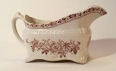 "English Aesthetic Transferware Gravy Boat c1898- Woodridge & Walley-""LARA"""