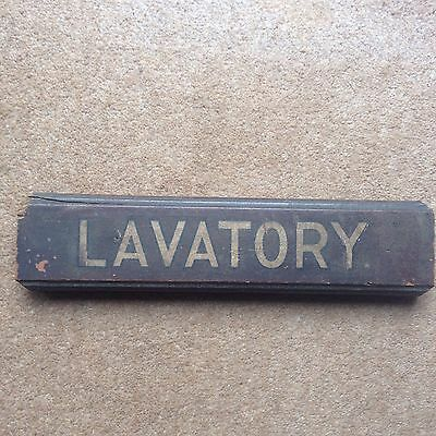 Very Rare Railway Wooden Lavatory Sign 1920's / 1930's