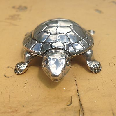 Rare Novelty Solid Silver Tortoise