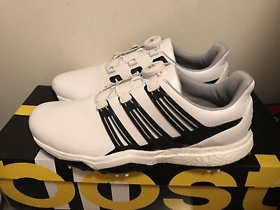 Brand New Adidas Powerband BOA Boost Golf Shoes Men's Size 11 Med White/Black