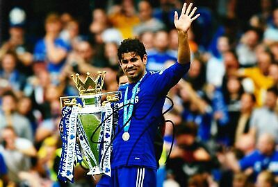 Diego Costa Signed 12X8 Photo Chelsea FC Autograph AFTAL COA (9090)