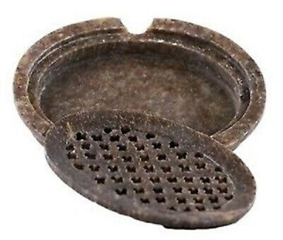 Natural SOAPSTONE 2pc.OVAL Lattice Insert SOAP DISH by TS Pink No-Two Are Alike