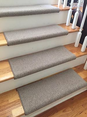 Richmond Taupe New Zealand Wool TRUE Bullnose™ Carpet Stair Tread JMish