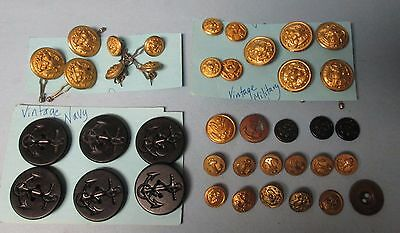 Vintage U.S. Military Button Lot Total of Thirty Seven (37)