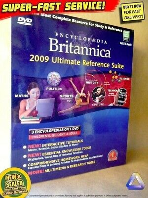 Britannica ULTIMATE Edition (NEW!) Windows PC Encyclopaedia educational software