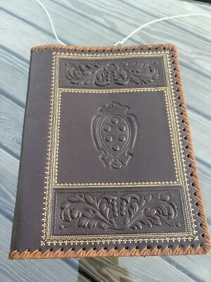 Vintage Tooled Leather Book Cover With Gilt Decoration