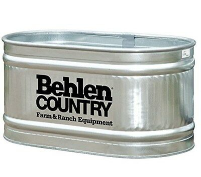 Behlen Country Galvanized Round Water Tank Feed Trough Horse Cattle 90 Gallon