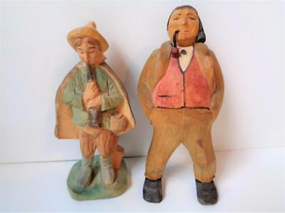 Vintage 1930s Wood Carvings Trygg Henning Gunnarsson Carved Figures Swedish