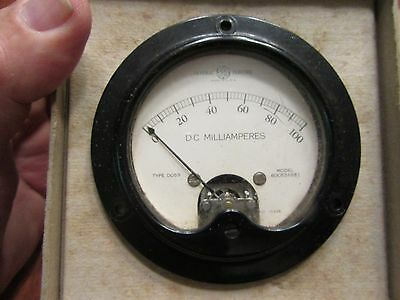 General Electric D.C. Milliamperes Meter Type D053