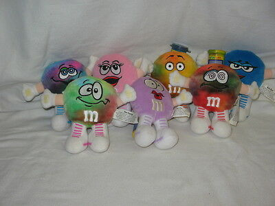 M&M Mini Swarmees Collectible Lot Of 7 Stuffed Toys By Mars