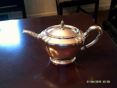 Internation Sterling teapot- Orchid pattern 40's deco 3 pints