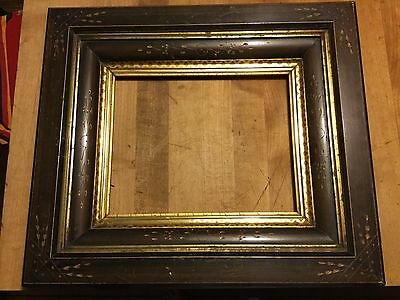SPECTACULAR ANTIQUE VICTORIAN SHADOWBOX EASTLAKE PICTURE FRAME WOOD GILT 8x10