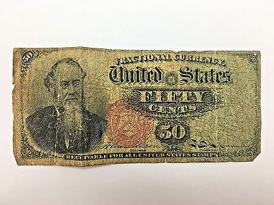 Fifty Cents Fractional Note STANTON Fourth Issue 50 Cents U.S. Currency