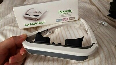 """Great Dynamic Video Glasses for I Phone and I Pad  / Virtual 72"""" Screen"""